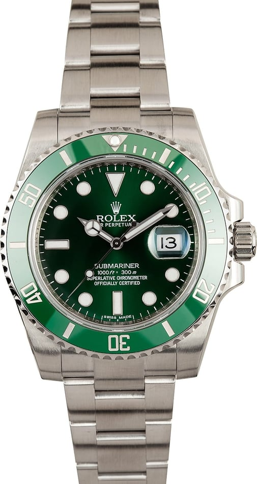 Rolex Submariner 116610V Anniversary Green