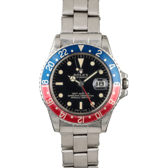 VINTAGE ROLEX GMT-MASTER 1675 'GILT GLOSSY DIAL' (1966) BOX & PAPERS