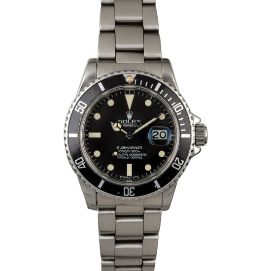 ROLEX SUBMARINER 16800 'MATTE BLACK DIAL' (1983) BOX & PAPERS