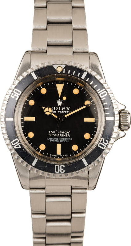 VINTAGE ROLEX SUBMARINER 5512 STAINLESS STEEL