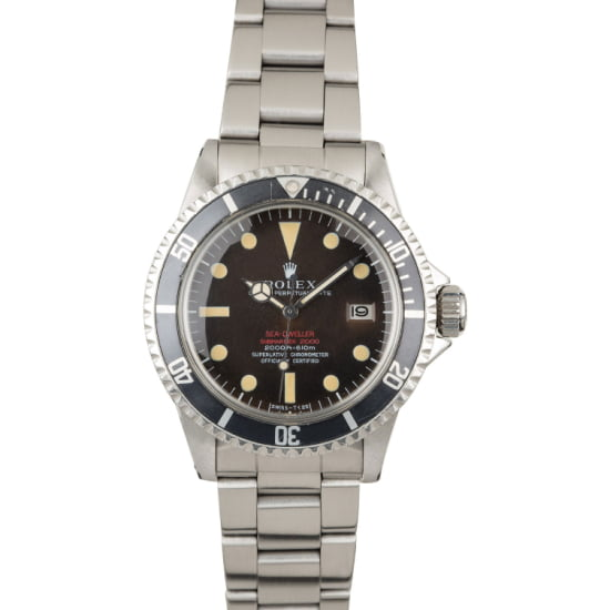 VINTAGE 1971 ROLEX SEA-DWELLER 1665 DOUBLE RED