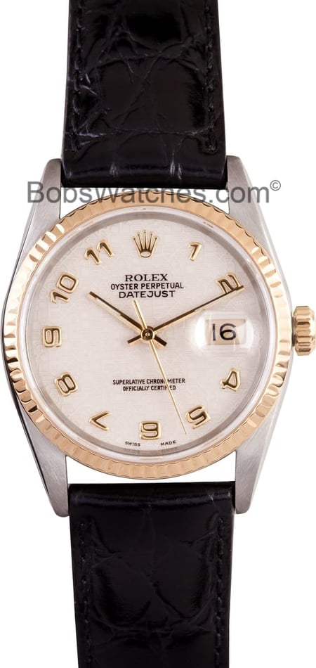 Men's Rolex DateJust 16233 Pyramid Dial