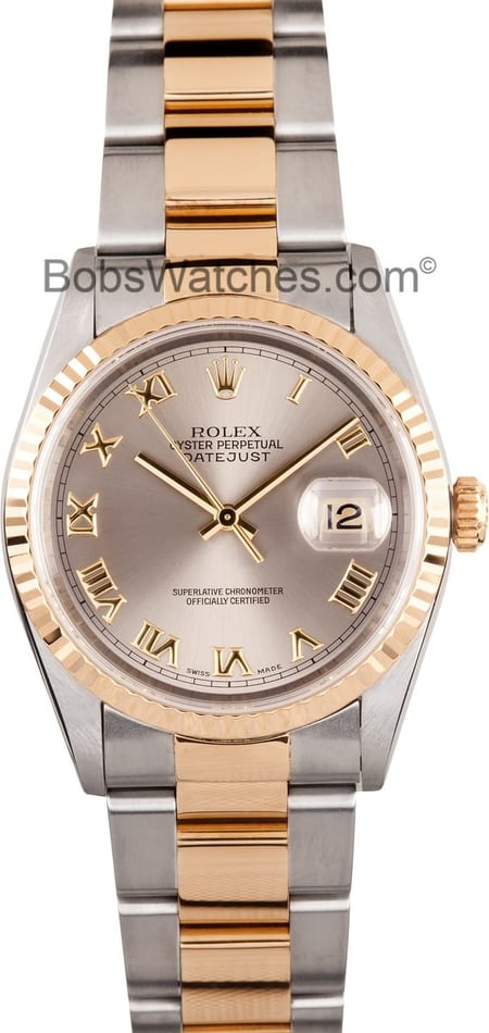 Men's Rolex DateJust 16233 Slate Dial