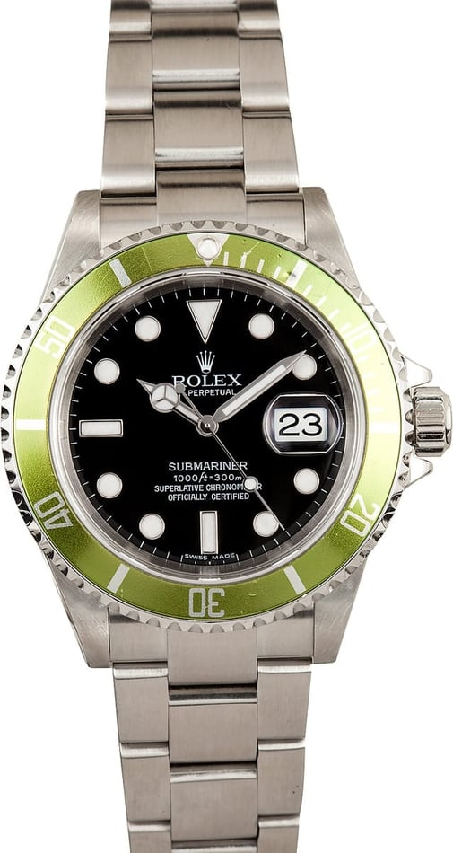 Rolex Submariner Faded Green Anniversary 16610