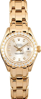 Womens Rolex Pearlmaster