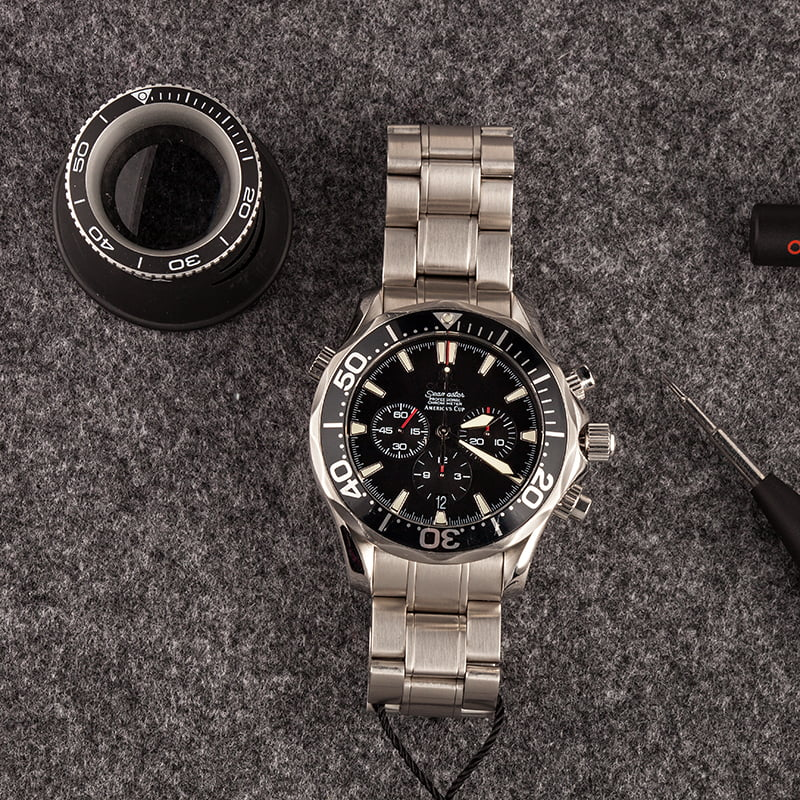 Best Value Pre-Owned Omega Watches Seamaster Chronograph Diver