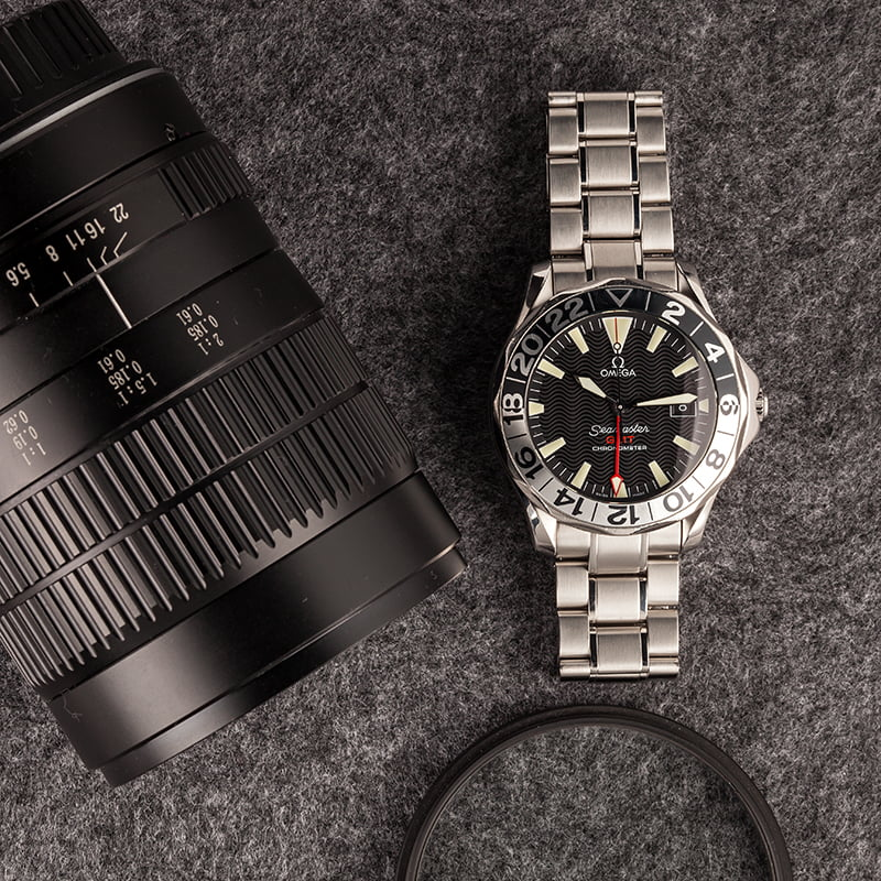 Omega Watches James Bond Seamaster Diver 300m GMT 50th anniversary