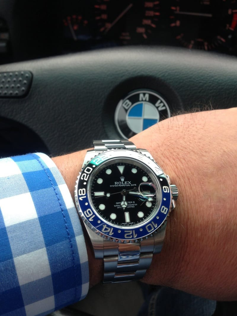 black blue rolex gmt master ii reference 116710 blnr