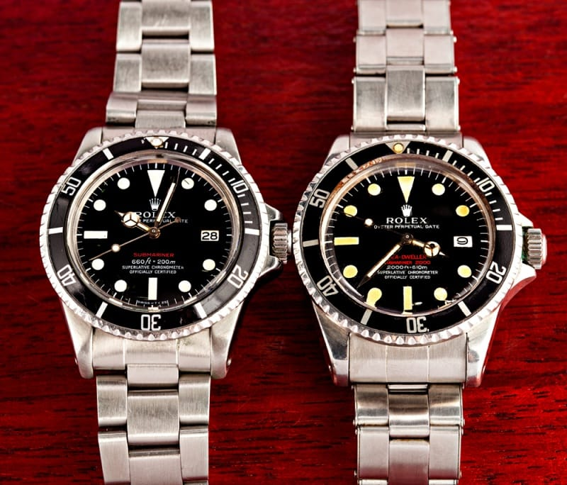 rolex submariner and double red sea dweller
