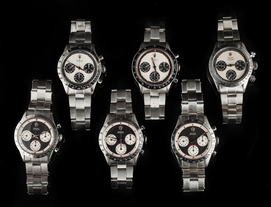 A collection of vintage Rolex Daytona Paul Newman watches