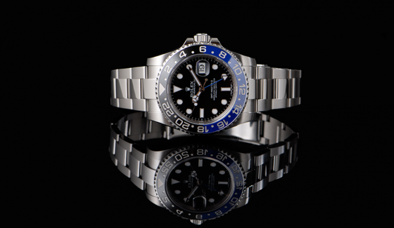 rolex gmt master ii black blue batman