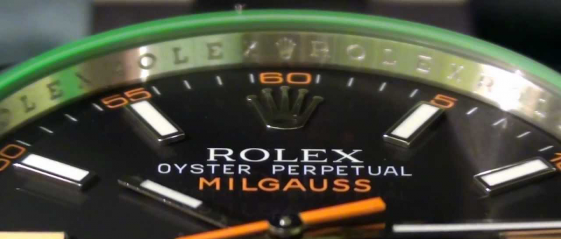 rolex milgauss green crystal and black dial