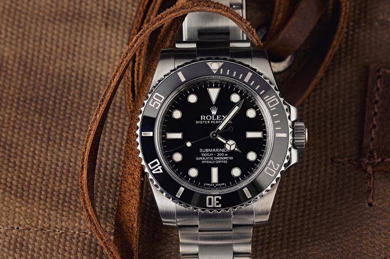 Mens Stainless Steel Rolex Submariner