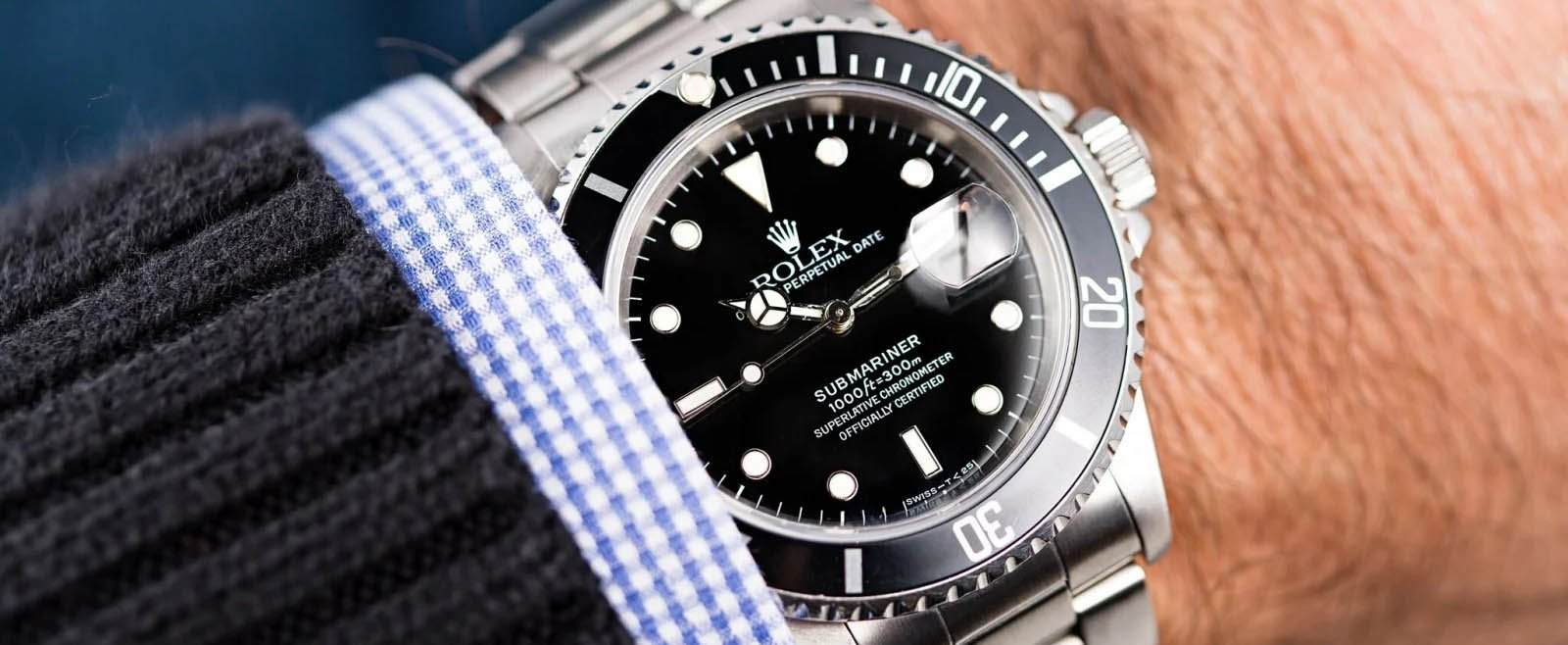 Wearing Rolex Submariner on Wrists