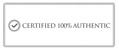 certified 100% authentic