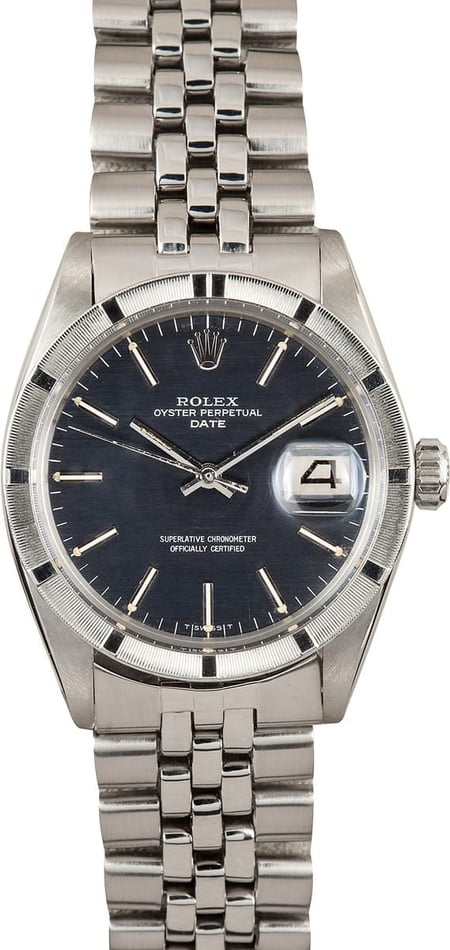 Vintage Rolex Date Stainless with Black Dial 1501