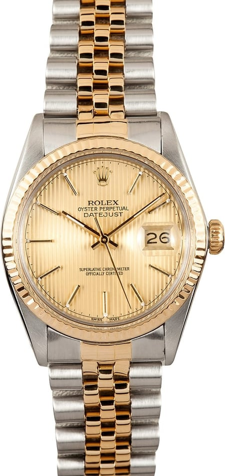 Datejust Rolex 16013 Champagne Tapestry