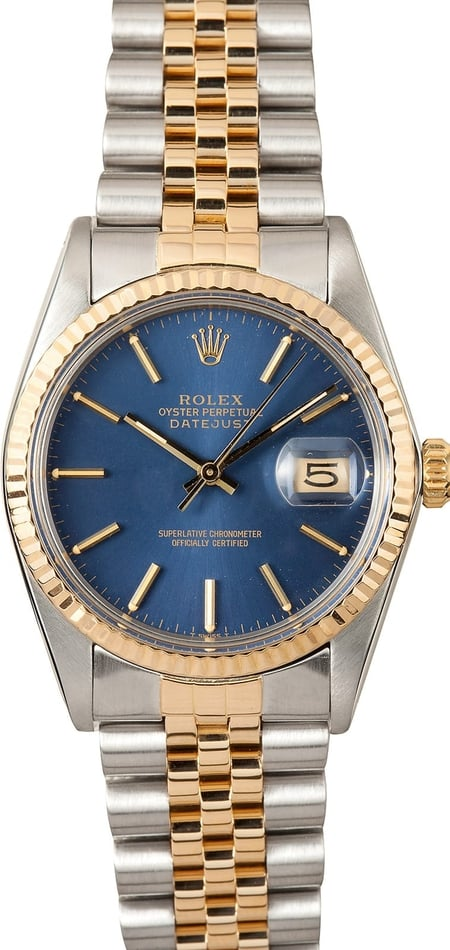 Rolex Datejust 16013 Blue Dial