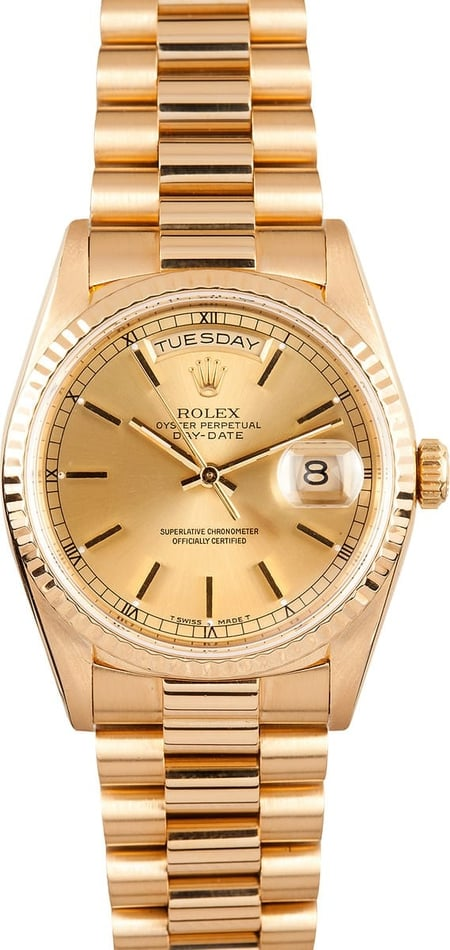 18K Men's Presidential Day Date 18238