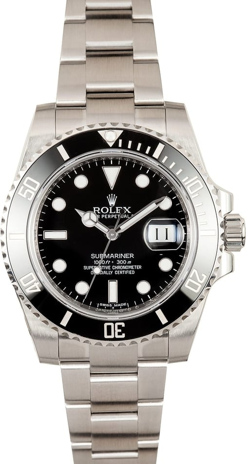 Rolex Black Ceramic Submariner 116610 Mens