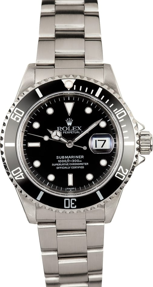 Used Rolex Submariner Stainless Steel 16610