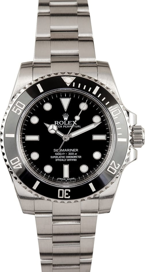 Men's Rolex Submariner 114060 Black Dial