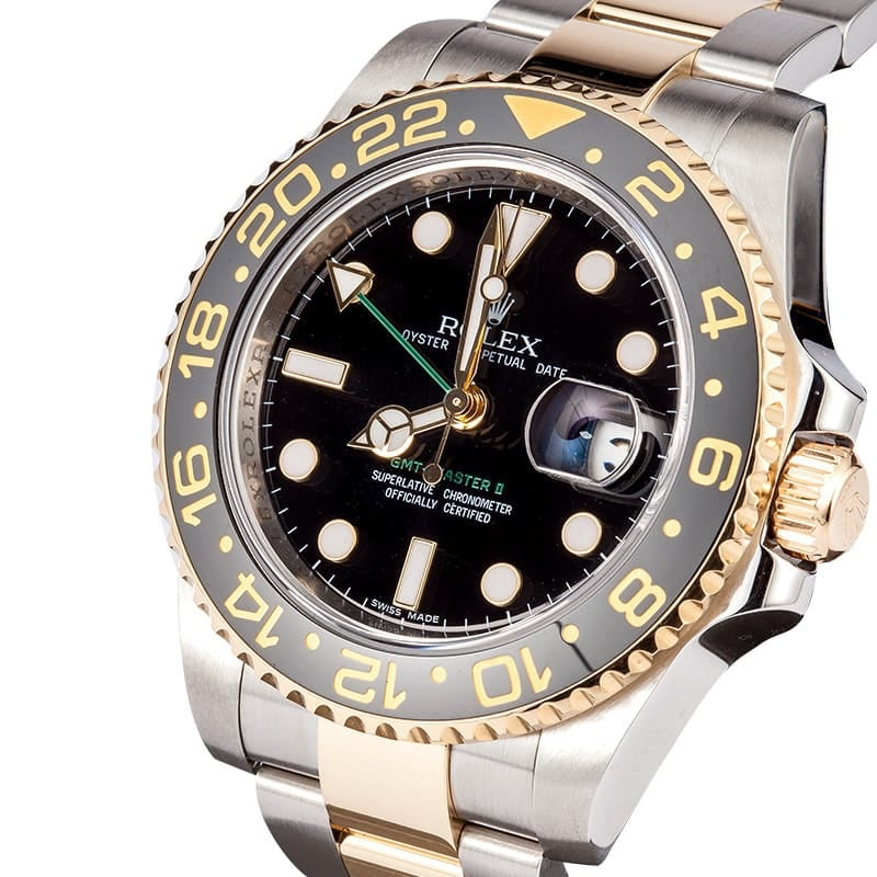 Pre-Owned Rolex GMT Master II Watch 116713-BSO