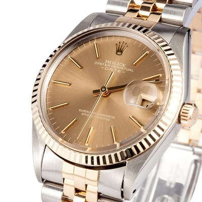 Pre-owned Rolex Date Stainless and gold 1500