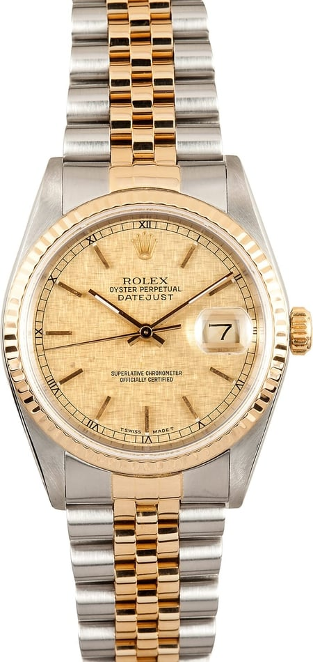 Rolex Two tone DateJust 16233 Mens