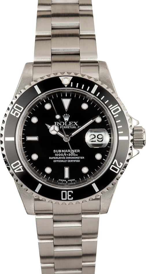 Rolex Submariner 16610 Black Dial