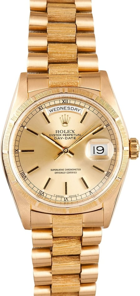 Pre Owned Men's Rolex President Gold Day-Date 18248