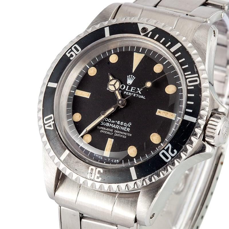 Vintage Rolex 5512 Submariner Watches At Bobs