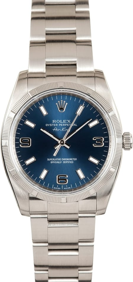 Men's Rolex Air-King Stainless Steel 114210