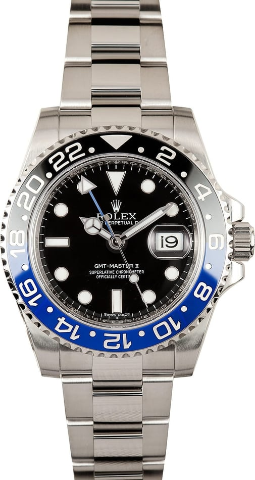 Men's Rolex GMT-Master II 16710B Batman