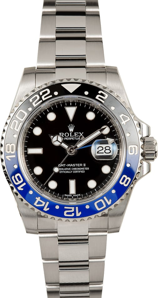 "Ceramic GMT-Master II Rolex 116710 ""Batman"""