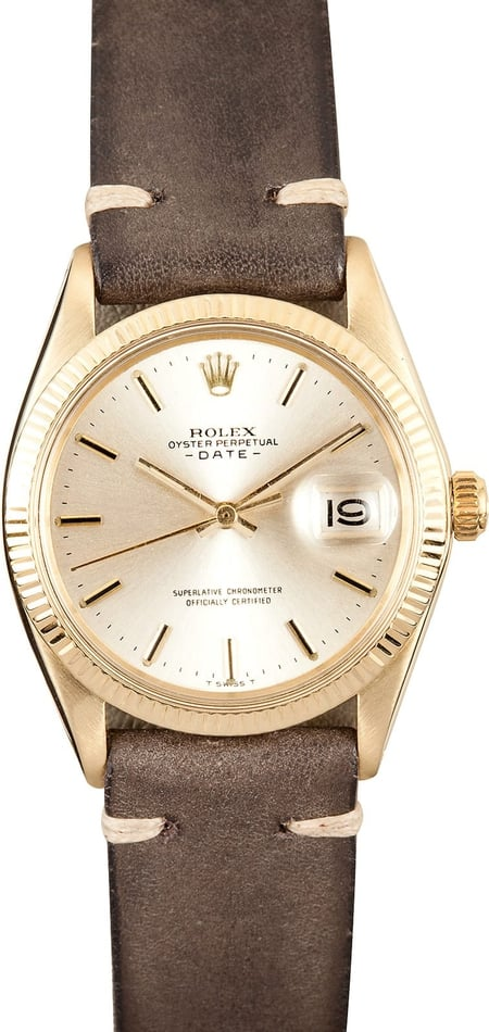 Rolex Date 1503 Yellow Gold Watch