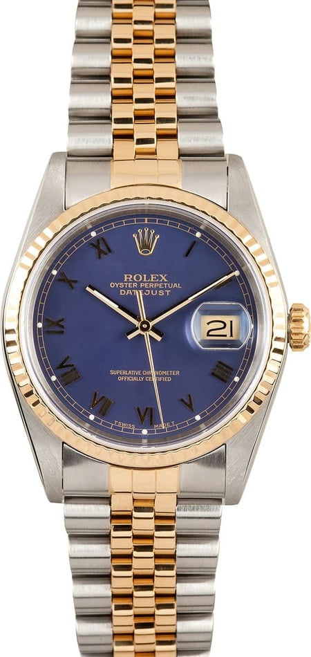 Rolex DateJust 16233 Blue Roman