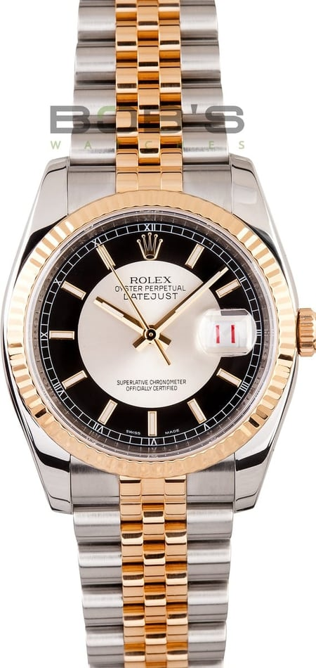 Used Men's Rolex Stainless and Gold DateJust 116233