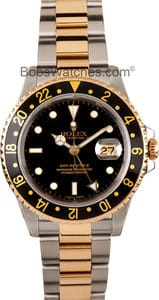 Pre-Owned Rolex GMT Master II Stainless Steel and Gold Mens Watch 16713