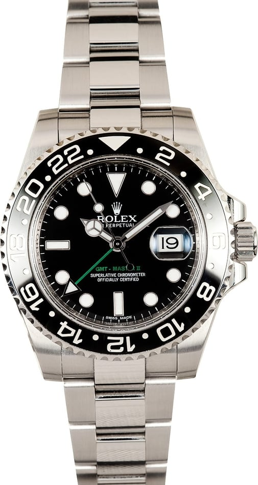 Rolex GMT-Master 2 Black Ceramic Bezel 116710