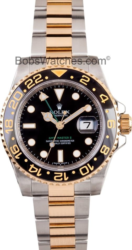 Rolex GMT Master Stainless Steel and Gold Mens 116713