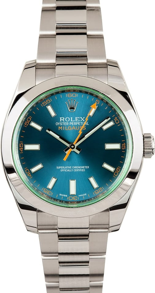 Milgauss Rolex 116400 Blue Dial Certified Pre-Owned