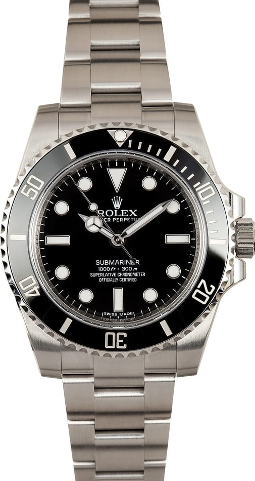 Submariner Rolex 114060 Watch No Date