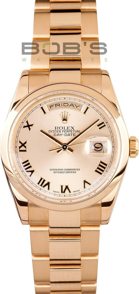 Men's Rolex Gold Day-Date 118208