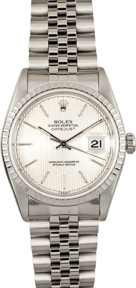 Rolex Datejust 16220 Silver Tapestry