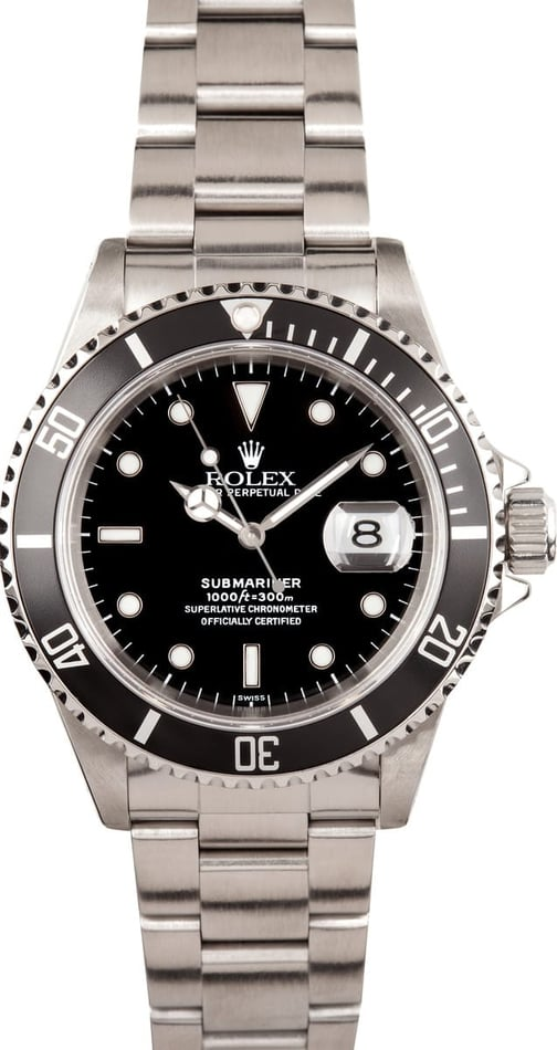 Pre-Owned Rolex Submariner 16610 at Bob's Watches