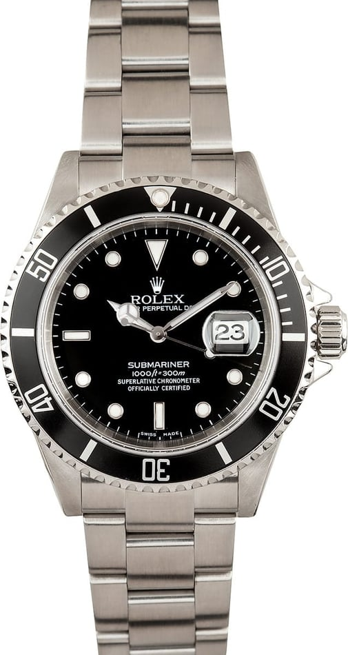 Rolex Submariner No Holes Case 16610