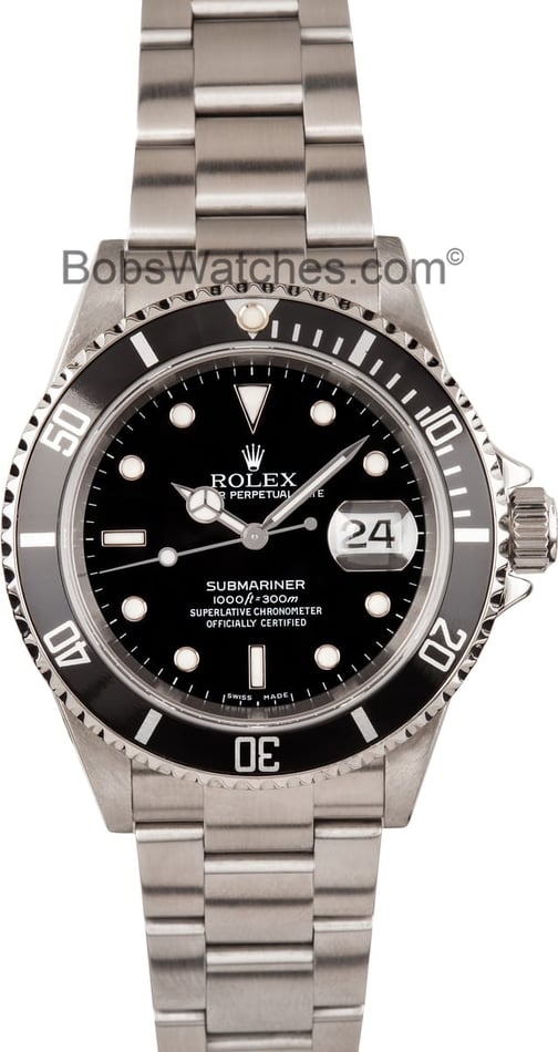 Rolex Submariner 16610 at Bob's Watches Pre-Owned