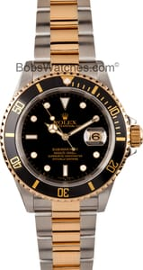 Used Rolex Submariner Steel & Gold Blue Face 16613 -1
