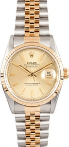 Rolex DateJust Jubilee Stainless and Gold